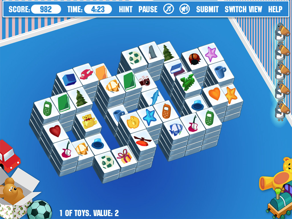Play Mahjongg Toy Chest Classic Edition Online Game